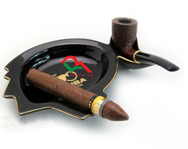 Gạt tàn xì gà và kệ tẩu bằng sứ Cohiba AS 350