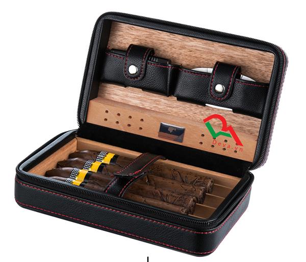 Hộp đựng xì gà có bật lửa và dao cắt Cohiba XJ-T104