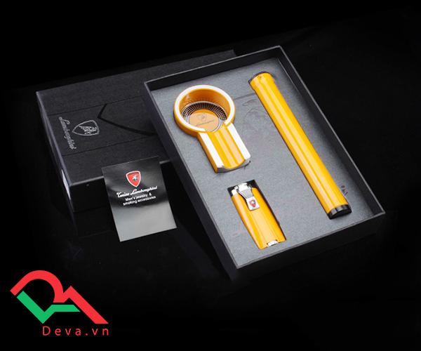 Set gạt tàn, bật lửa, ống đựng xì gà Cohiba T303